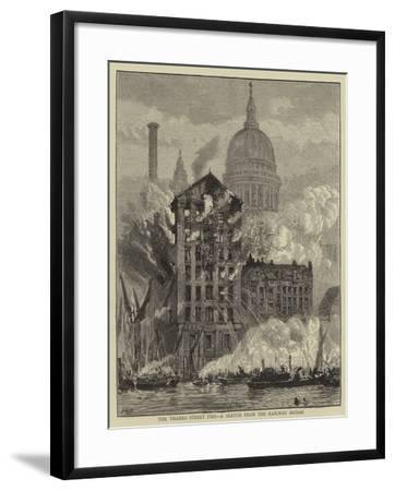 The Thames Street Fire, a Sketch from the Railway Bridge-Henry William Brewer-Framed Giclee Print