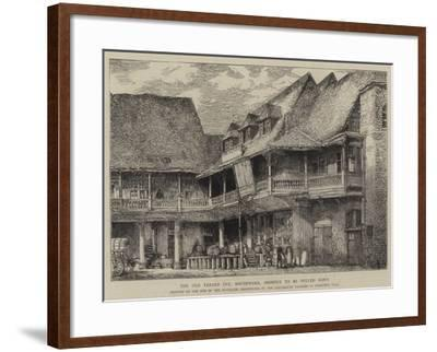 The Old Tabard Inn, Southwark, Shortly to Be Pulled Down-Henry William Brewer-Framed Giclee Print