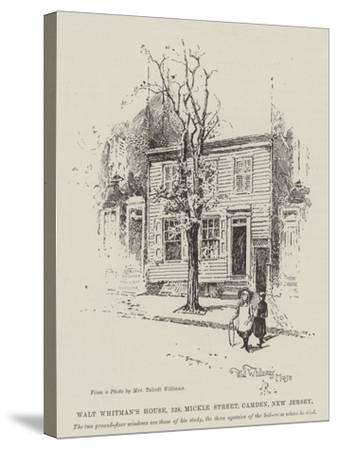 Walt Whitman's House, 328, Mickle Street, Camden, New Jersey-Herbert Railton-Stretched Canvas Print