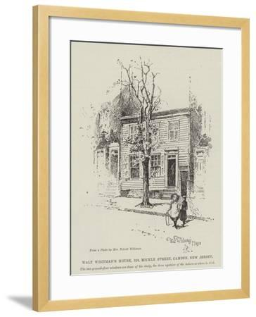 Walt Whitman's House, 328, Mickle Street, Camden, New Jersey-Herbert Railton-Framed Giclee Print