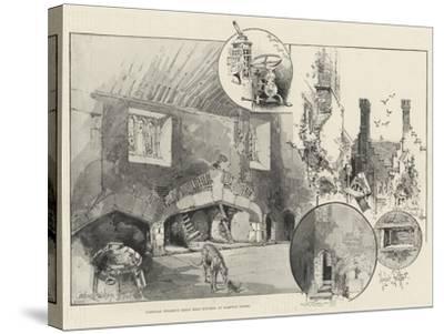 Cardinal Wolsey's Great Meat Kitchen at Hampton Court-Herbert Railton-Stretched Canvas Print
