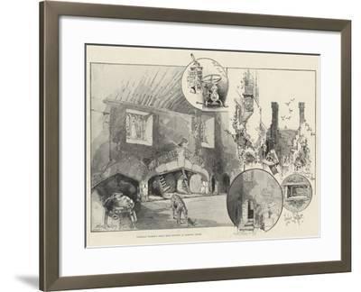 Cardinal Wolsey's Great Meat Kitchen at Hampton Court-Herbert Railton-Framed Giclee Print