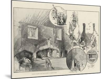 Cardinal Wolsey's Great Meat Kitchen at Hampton Court-Herbert Railton-Mounted Giclee Print