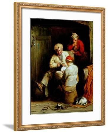 Smugglers Playing Cards-Henry Perlee Parker-Framed Giclee Print