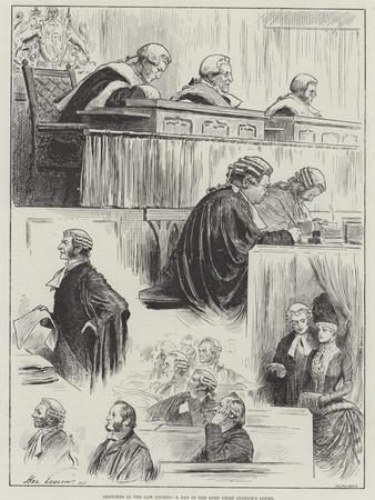 Sketches in the Law Courts, a Day in the Lord Chief Justice's Court-Henry Stephen Ludlow-Framed Giclee Print