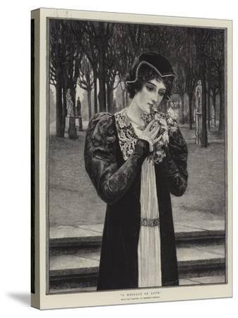 A Message of Love-Herbert Gustave Schmalz-Stretched Canvas Print