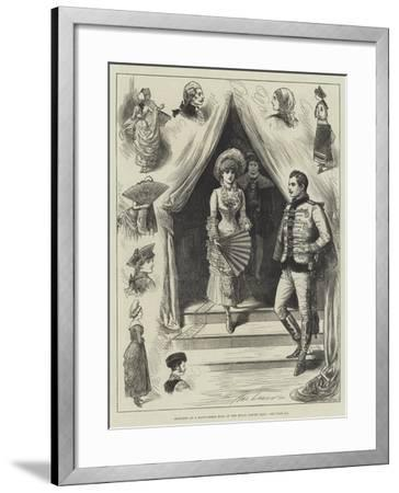 Sketches at a Fancy-Dress Ball at the Royal Albert Hall-Henry Stephen Ludlow-Framed Giclee Print