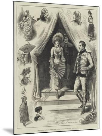 Sketches at a Fancy-Dress Ball at the Royal Albert Hall-Henry Stephen Ludlow-Mounted Giclee Print
