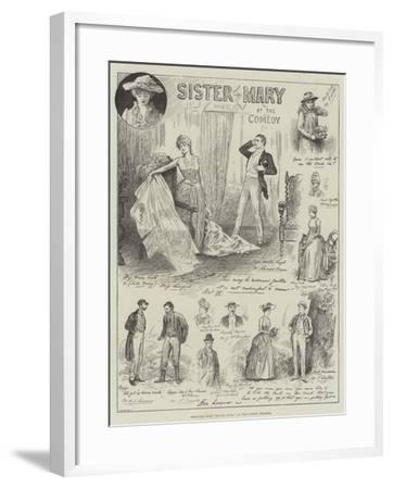 Sketches from Sister Mary, at the Comedy Theatre-Henry Stephen Ludlow-Framed Giclee Print