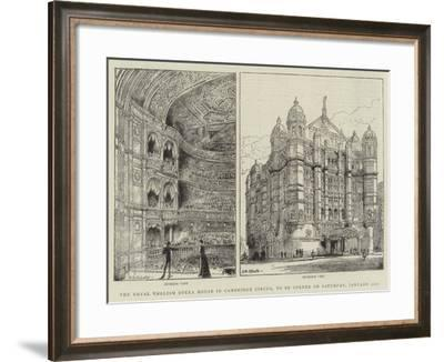 The Royal English Opera House in Cambridge Circus, to Be Opened on Saturday, 31 January-Henry William Brewer-Framed Giclee Print