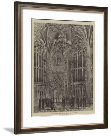 The Central Hall of the Houses of Parliament-Henry William Brewer-Framed Giclee Print