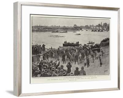 The University Boat Race, the Finish, as Seen from Ship, Mortlake-Henry Marriott Paget-Framed Giclee Print