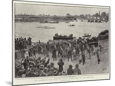 The University Boat Race, the Finish, as Seen from Ship, Mortlake-Henry Marriott Paget-Mounted Giclee Print
