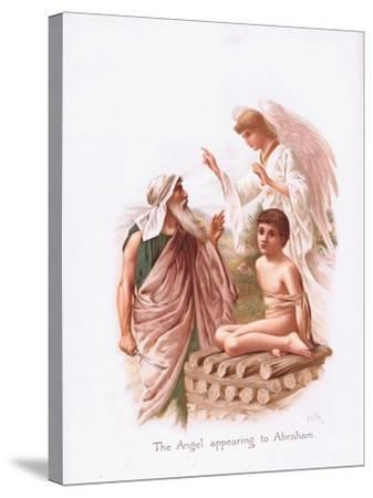 The Angel Appearing to Abraham-Henry Ryland-Stretched Canvas Print