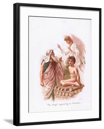 The Angel Appearing to Abraham-Henry Ryland-Framed Giclee Print