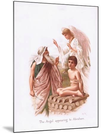 The Angel Appearing to Abraham-Henry Ryland-Mounted Giclee Print