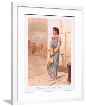 Daniel in the Lions Den-Henry Ryland-Framed Giclee Print