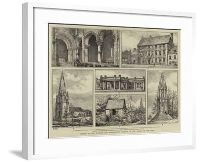Scenes on the Bedford and Northampton Railway, in the Valley of the Ouse-Henry William Brewer-Framed Giclee Print