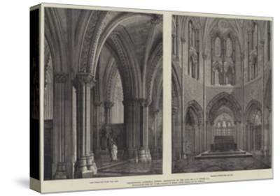 Christchurch Cathedral, Dublin, Restoration by the Late Mr G E Street, Ra-Henry William Brewer-Stretched Canvas Print