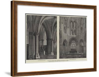 Christchurch Cathedral, Dublin, Restoration by the Late Mr G E Street, Ra-Henry William Brewer-Framed Giclee Print