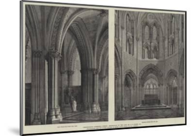 Christchurch Cathedral, Dublin, Restoration by the Late Mr G E Street, Ra-Henry William Brewer-Mounted Giclee Print