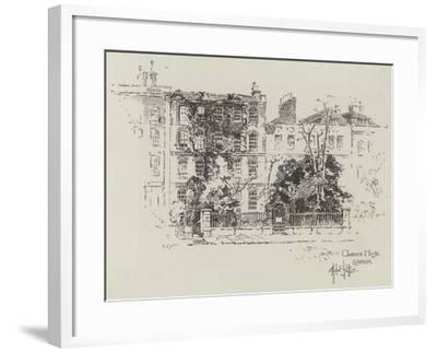 Clarence House in Clapham-Herbert Railton-Framed Giclee Print