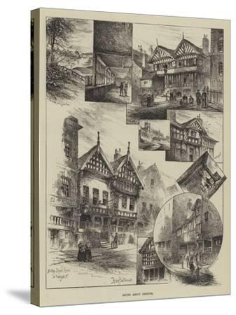 Round About Chester-Herbert Railton-Stretched Canvas Print