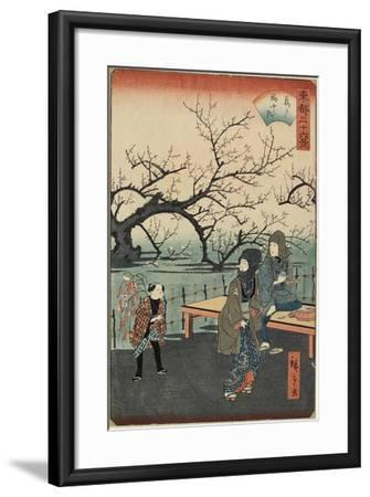 Plum Trees at Kameido, 1859-1862--Framed Giclee Print