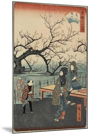 Plum Trees at Kameido, 1859-1862--Mounted Giclee Print