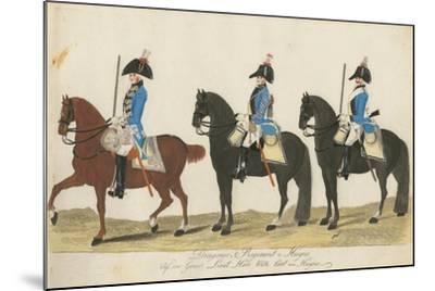 Carl Von Huyne's Dragoner Regiment, Hesse-Cassel, C.1784-J. H. Carl-Mounted Giclee Print