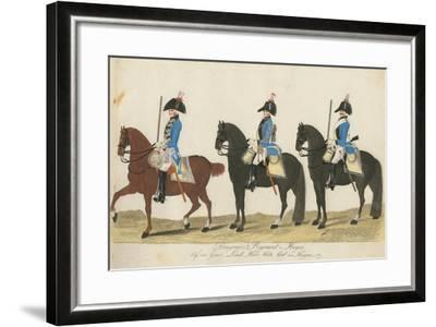 Carl Von Huyne's Dragoner Regiment, Hesse-Cassel, C.1784-J. H. Carl-Framed Giclee Print