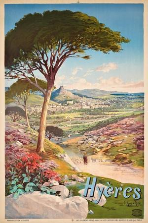Poster Advertising Hyeres, France, 1900-Hugo D' Alesi-Stretched Canvas Print