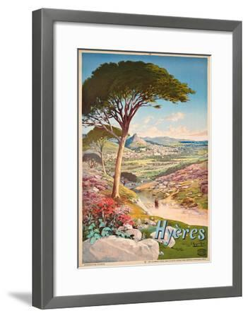 Poster Advertising Hyeres, France, 1900-Hugo D' Alesi-Framed Giclee Print