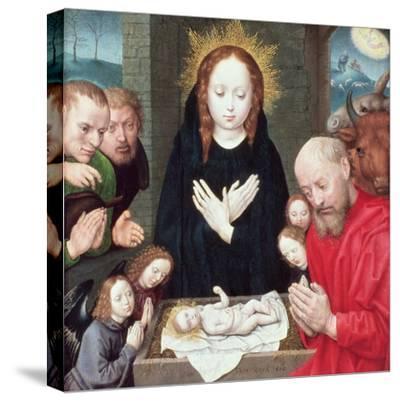 Adoration of the Shepherds-Hugo van der Goes-Stretched Canvas Print