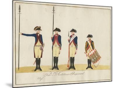 Field Artillery Regiment, C.1784-J. H. Carl-Mounted Giclee Print