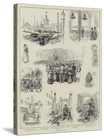 Sketches in Venice-Horace Petherick-Stretched Canvas Print