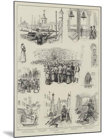 Sketches in Venice-Horace Petherick-Mounted Giclee Print