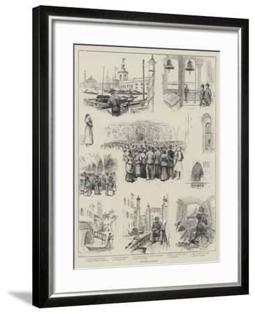 Sketches in Venice-Horace Petherick-Framed Giclee Print