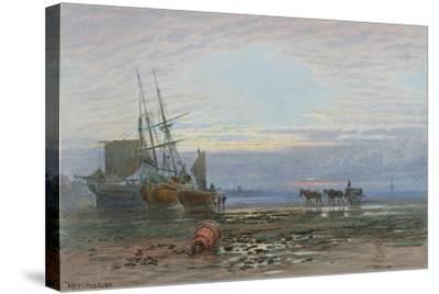 Shore Scene - Sunset-J. MacPherson-Stretched Canvas Print