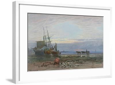 Shore Scene - Sunset-J. MacPherson-Framed Giclee Print