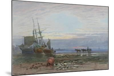 Shore Scene - Sunset-J. MacPherson-Mounted Giclee Print