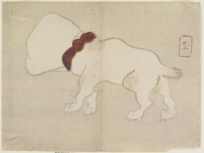 Dog with Bag over its Head, C. 1830- Hogyoku-Framed Giclee Print