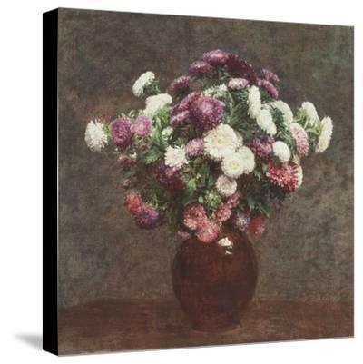 Asters in a Vase, 1875-Ignace Henri Jean Fantin-Latour-Stretched Canvas Print
