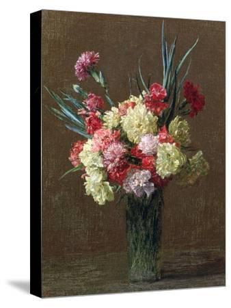 Carnations-Ignace Henri Jean Fantin-Latour-Stretched Canvas Print