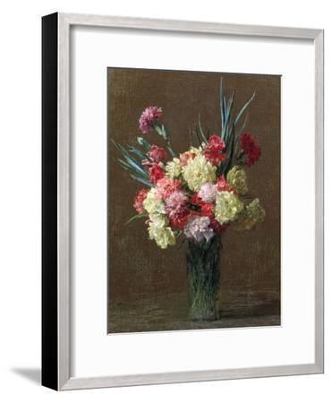 Carnations-Ignace Henri Jean Fantin-Latour-Framed Giclee Print