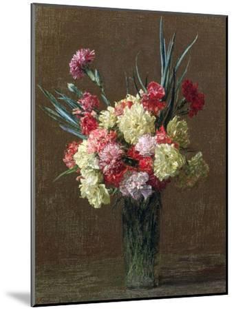 Carnations-Ignace Henri Jean Fantin-Latour-Mounted Giclee Print