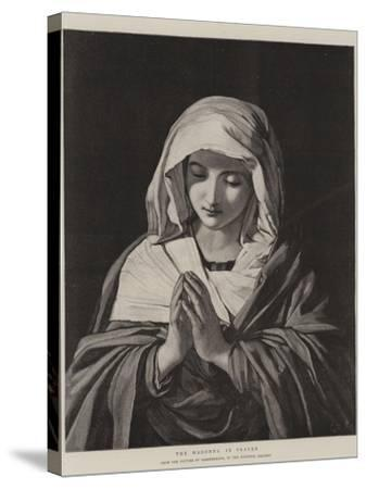The Madonna in Prayer-Il Sassoferrato-Stretched Canvas Print