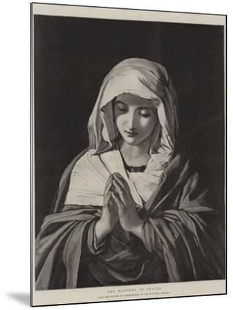 The Madonna in Prayer-Il Sassoferrato-Mounted Giclee Print