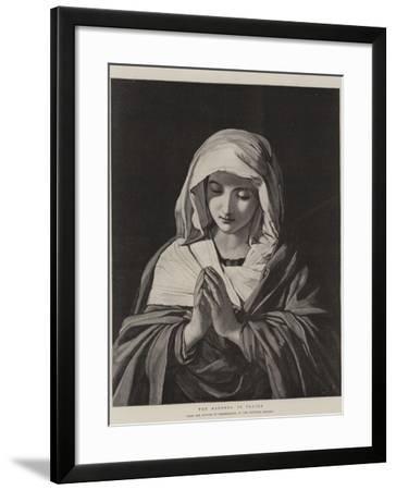 The Madonna in Prayer-Il Sassoferrato-Framed Giclee Print