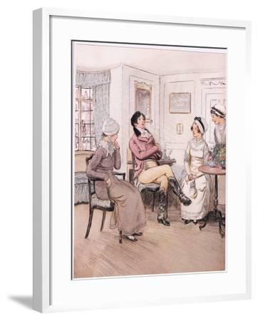 Valentine: I Regret That They are Out, Patty, But I Will Await their Return-Hugh Thomson-Framed Giclee Print
